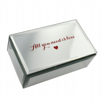 All You Need Is Love Glass Mirror Jewellery Box
